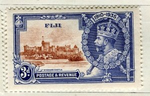 FIJI; 1935 early GV Silver Jubilee issue Mint hinged 3d. value