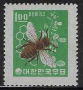 KOREA, 377, MNH, 1962-64, Bee, Honeycomb and Clover