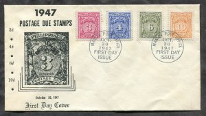 p176 - PHILIPPINES 1947 FDC Cover. Postage Due Stamps. Unaddressed