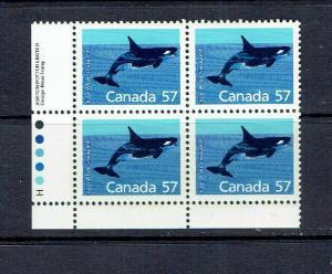 CANADA - 1988 KILLER WHALE - HARRISON PAPER - LLPB - SCOTT 1173i - MNH