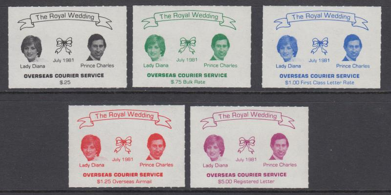 Canada, Overseas Courier Local Post, 1981 Charles & Diana Royal Wedding