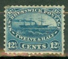 CW: Canada New Brunswick 10 unused no gum CV $100