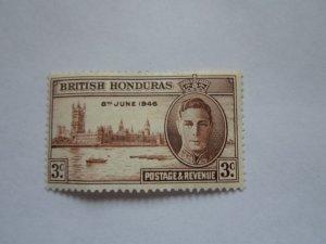 BRITISH HONDURAS STAMP  MINT HINGE MARKS. # 12