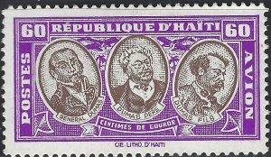 Haiti #C10, Unused, Hinge Remnant