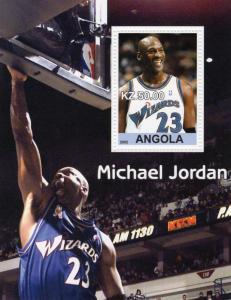 Angola 2002 Michael Jordan Souvenir Sheet  #1  Perforated  MNH