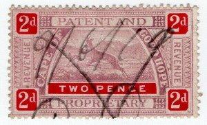(I.B) Cape of Good Hope Revenue : Patent & Proprietary 2d