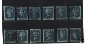 Great Britain #4 Lot Of 10 Fine Examples