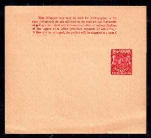 British East Africa QV 1A red Newspaper Wrapper mint WS14950
