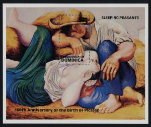 Dominica 743 MNH Art, Picasso, Sleeping Peasants