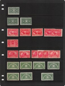 Lot of 34 U.S. MNH Mint Never Hinged & MH BOB Back of Book Stamps #139873 X R