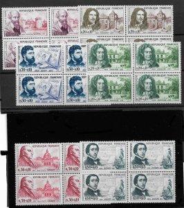France 1960,Personalities Red Cross Blocks Sc #B341-B346,VF MNH**OG (RN-5) $100+