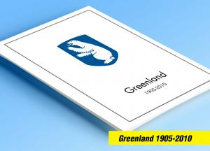 COLOR PRINTED GREENLAND 1905-2010 STAMP ALBUM PAGES (100 illustrated pages)