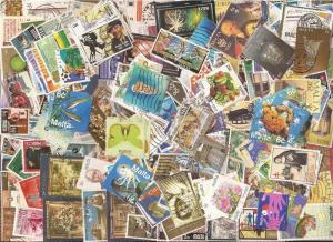 Malta Stamp Collection - 600 Different Stamps
