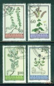 LIECHTENSTEIN Scott 1009-12 Flowering Plant set 1993 CV$5.95