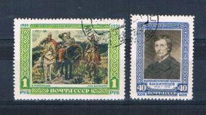 Russia 1594-95 Used set Victor Vasnetsov 1951 (R0518)