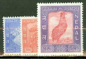 AZ: Nepal 104-117 mint CV $100; scan shows only a few