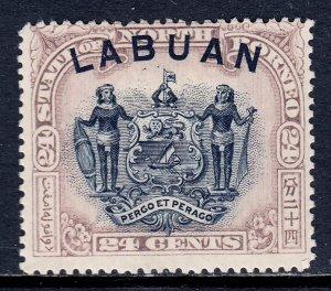 Labuan - Scott #82 - MH - Disturbed gum - SCV $14
