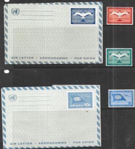 UN  #UC4,UC5,C1-C2,C6 Globe and Weather Vane (MNH) CV$2.20