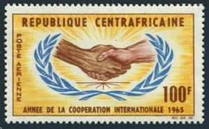 Central Africa C26,MNH.Michel 71. International Cooperation Year ICY-1965.