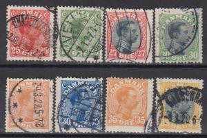 Denmark #108-15 F-VF Used CV $88.00 (B6363)
