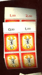 GERMANY #9N116-7 MINT BLOCKS FVF OG NH Cat $18