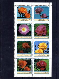 Equatorial Guinea 1976 ROSES Sheet (8) Perforated Mint (NH)