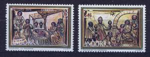ANDORRA SPANISH 1976 MNH SC.96/97 Christmas