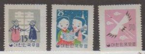 Korea - Republic of South Korea Scott #298-299-300 Stamps - Mint NH Set