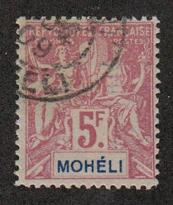 Moheli 1906-07 Navigation & Commerce (Scott #16)Used F-VF
