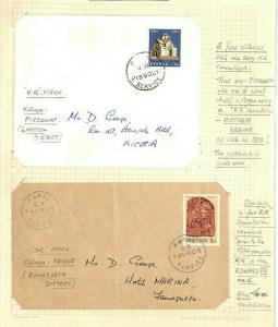 CYPRUS *Village Marks* Pissouri & Tavros Cover x2 Original Album Page 1972 AQ288