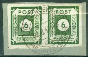 Germany - Russian Zone - East Saxony - Scott 15N5 Pair on Piece