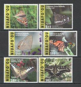 SK10 2015,2016 NIUAFO'OU TONGA SAMOA BUTTERFLIES !!! MICHEL 390 EURO 1SET MNH