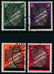 Stamp Austria SC 399-402 1945 WWII Adolf Hitler Overprint Germany Used
