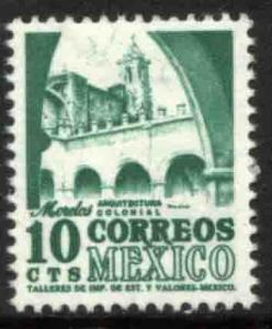 MEXICO 944 10c 1950 Def 5th Issue Fluorescent unglazed MINT, NH. F-VF.
