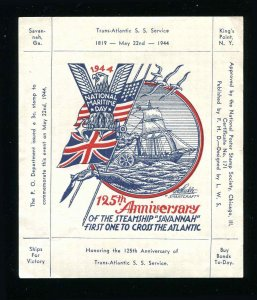 1944 125th Anniversary of the SS Savannah National Poster Stamp Society 171