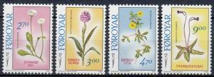 1988 Faroe Islands 162-165 Flowers 9,00 €