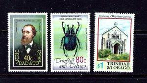 Trinidad and Tobago 539-41 MNH 1992 set