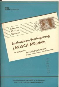 Larish: Sale # 35  -  35. Versteigerung, A. Larish-Munche...