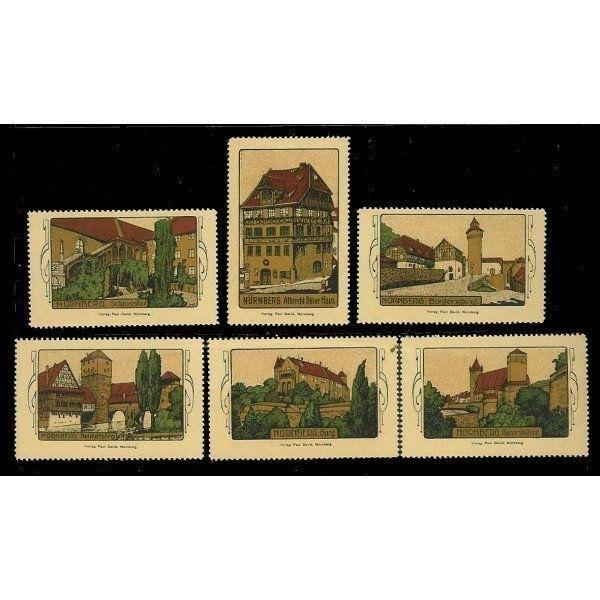 Germany - Nurnberg Scenic View Poster Stamps