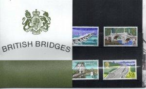1968 Sg 763/766 British Bridges Presentation Pack in Original Packaging