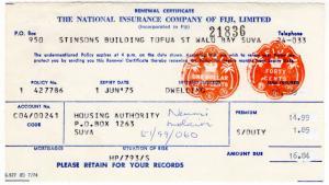 (I.B) Fiji Revenue : Impressed Duty $1.90 (complete document)