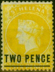St Helena 1873 2d Yellow SG10 Type C Fine Mtd Mint
