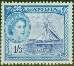 Gambia 1953 1s3d Ultramarine & Pale Blue SG179 V.F MNH