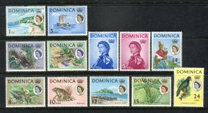 Dominica 1963 QEII. Short set to 24c. Mint Hinged. SG162/173.