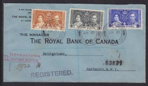 British Guiana Sc 227-229 FDC. 1937 Coronation cplt