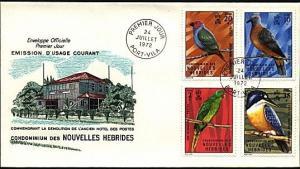 NEW HEBRIDES (French) 1972 Birds commem FDC................................20325