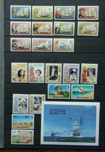 Barbuda 1971 Tourism 1973 Ships values to 75c 1984 Ships M/s 1985 Q Mother MM
