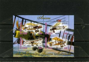CHAD 2013 HISTORY OF AVIATION SHEET OF 4 STAMPS MNH