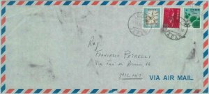84660 - JAPAN - POSTAL HISTORY -  AIRMAIL COVER  to ITALY  1970  Birds