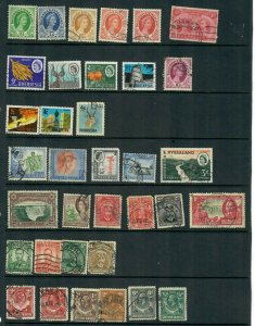 RHODESIA  MIX X 34  ALL DIFFERENT, USED  LOT E
